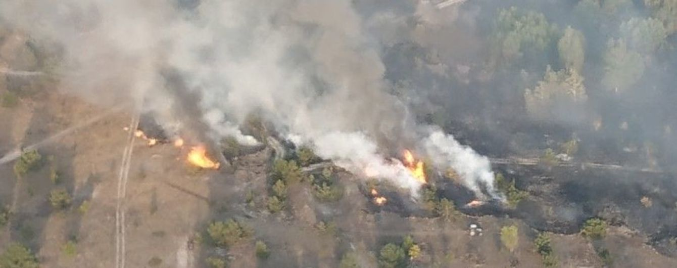 Вблизи Чернигова загорелся лес на территории военного полигона