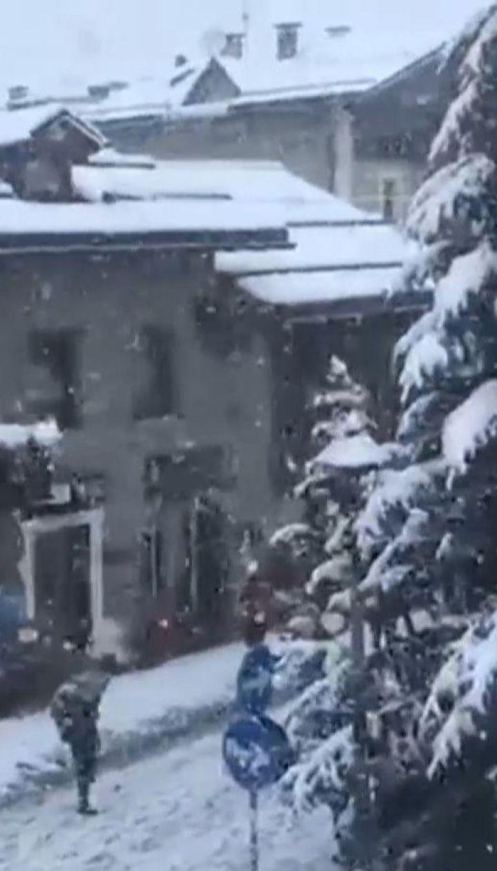Италию в сентябре засыпает снегом