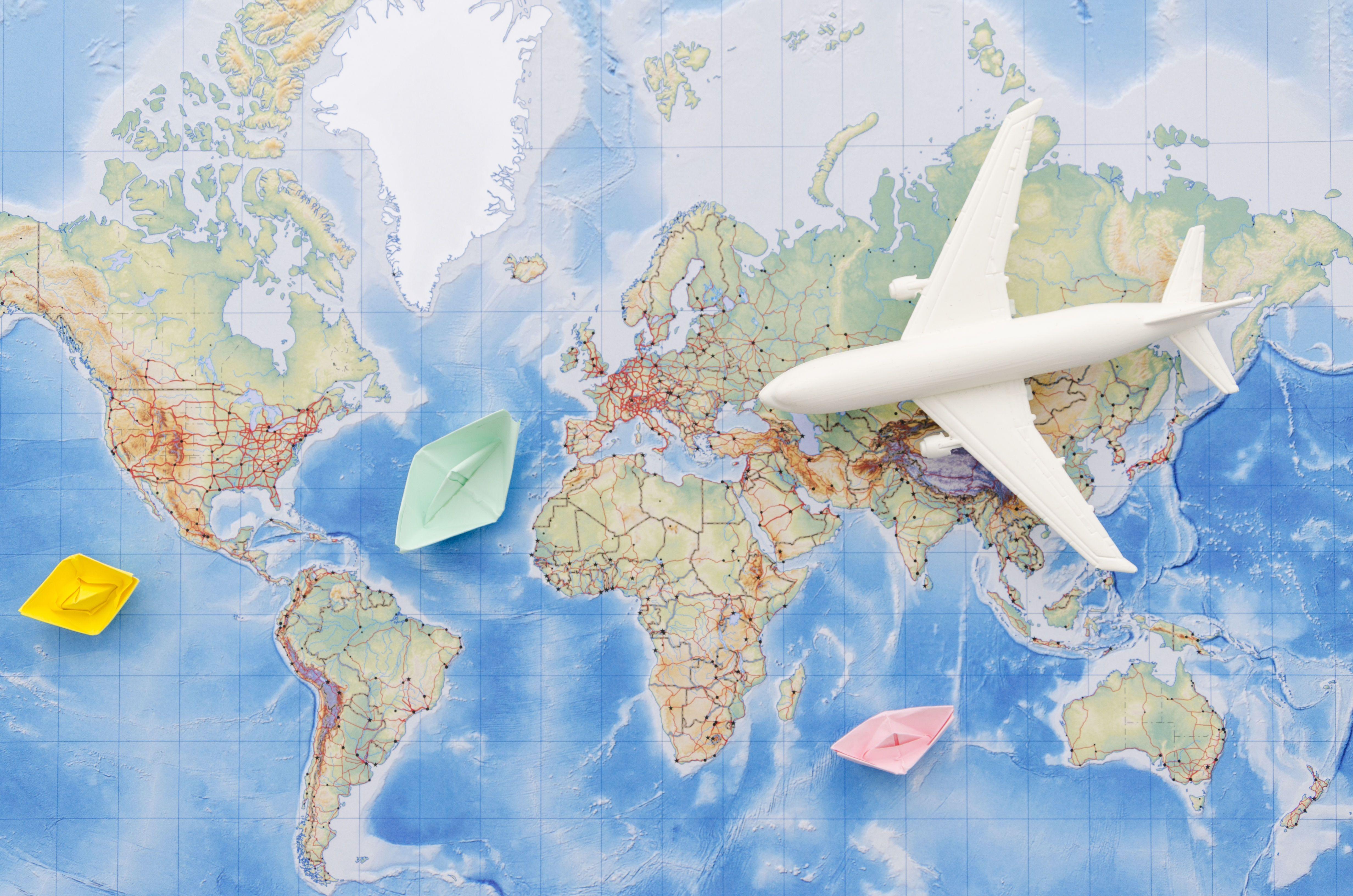 Літак, карта