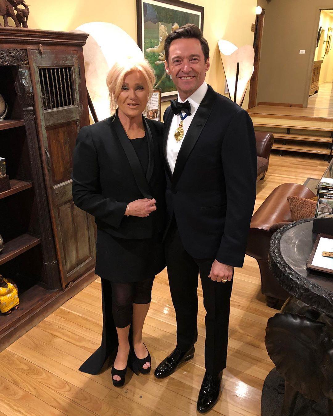 Г'ю Джекман з дружиною