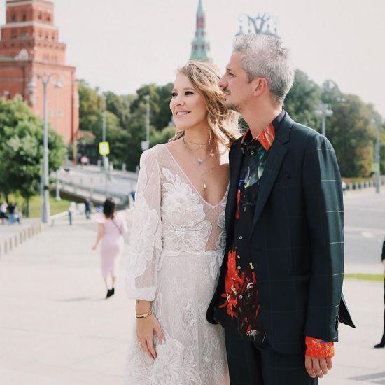 Ксенія Собчак опублікувала перші весільні знімки