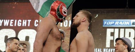 Ф'юрі завітав на зважування з Валліном у мексиканській рестлерській масці