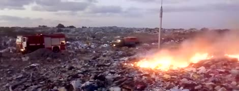 Біля Рівного горить сміттєзвалище. Територію навколо заполонив густий дим