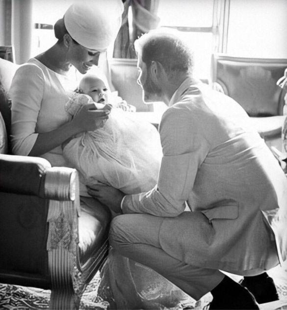 Герцогиня Меган, принц Гарри и их сын Арчи