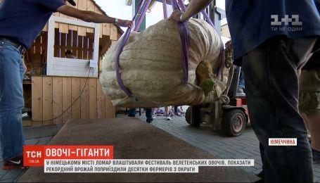 Понад 600 кілограм: гігантського гарбуза показали на фестивалі велетенських овочів у Німеччині