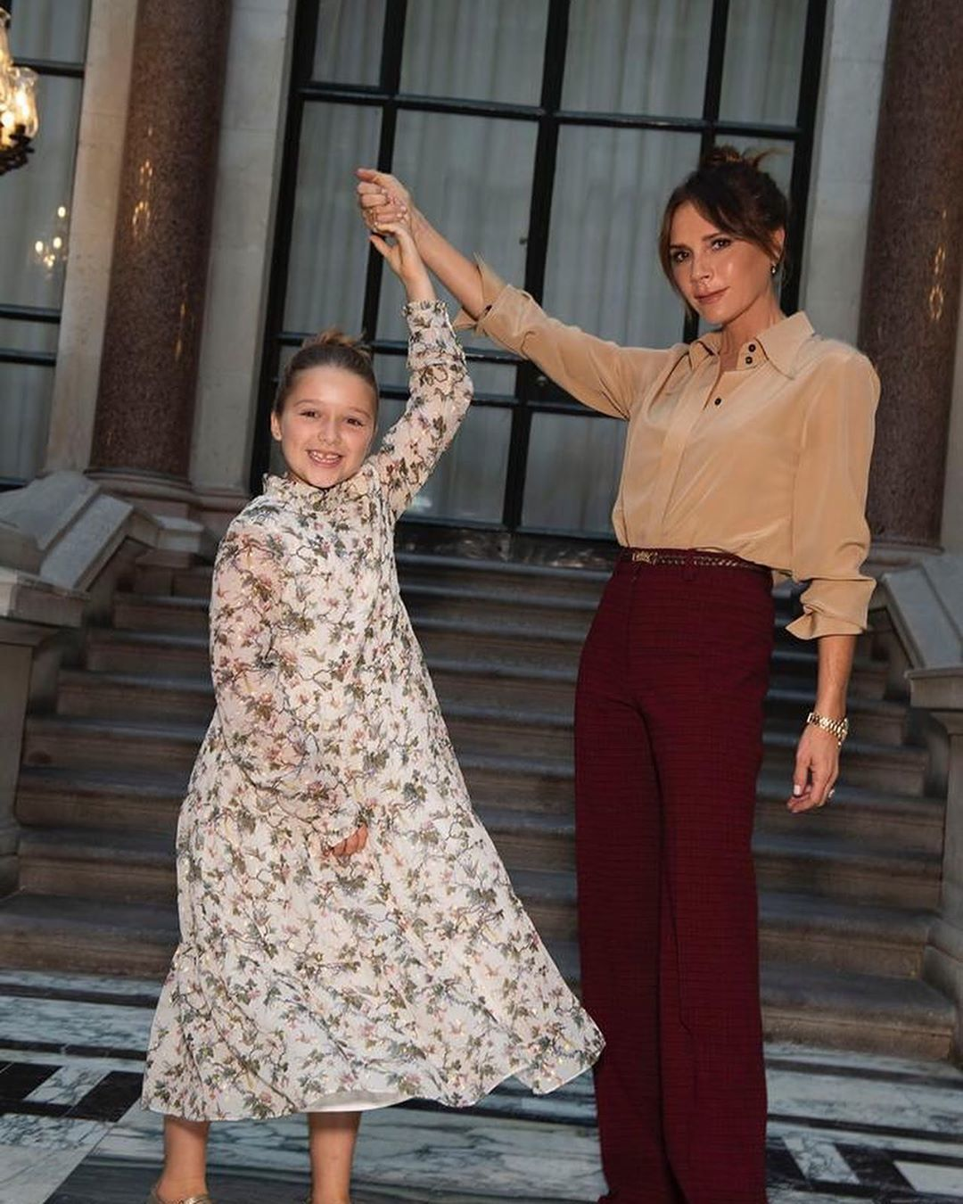 Вікторія Бекхем з дочкою