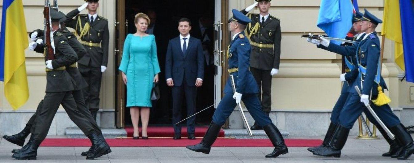 В Киеве началась встреча Зеленского с президентом Словакии