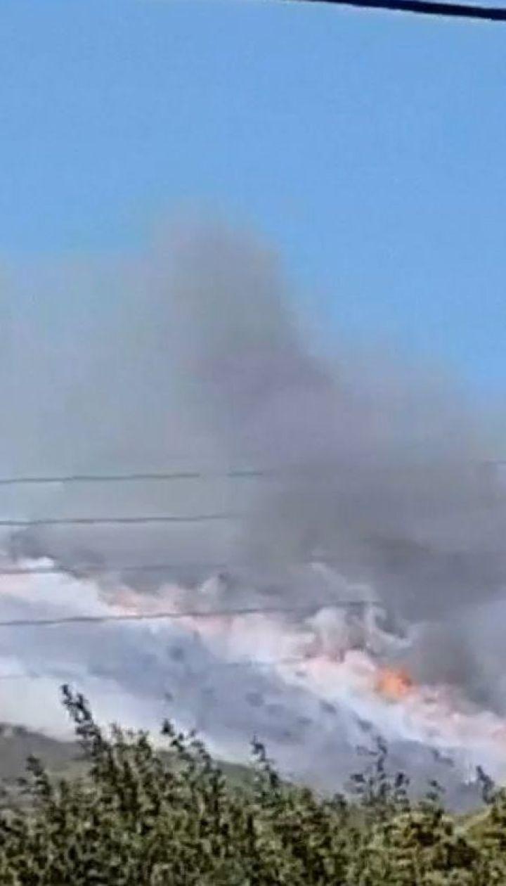 На курортном острове в Греции начались лесные пожары