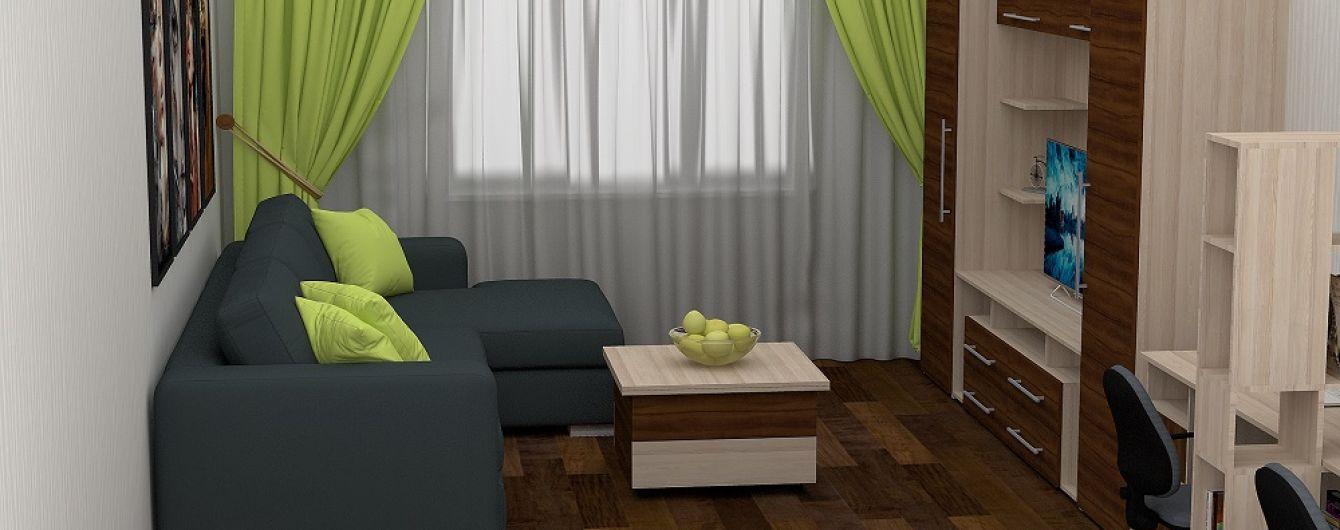 Обустройство однокомнатной квартиры. Как расставить мебель, не ущемляя ребенка: 10 фото