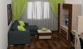Обладнання однокімнатної квартири. Як розставити меблі, щоб не притісняти дитину: 10 фото