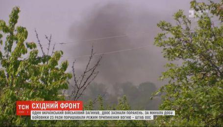 За добу бойовики 24 рази порушували режим припинення вогню
