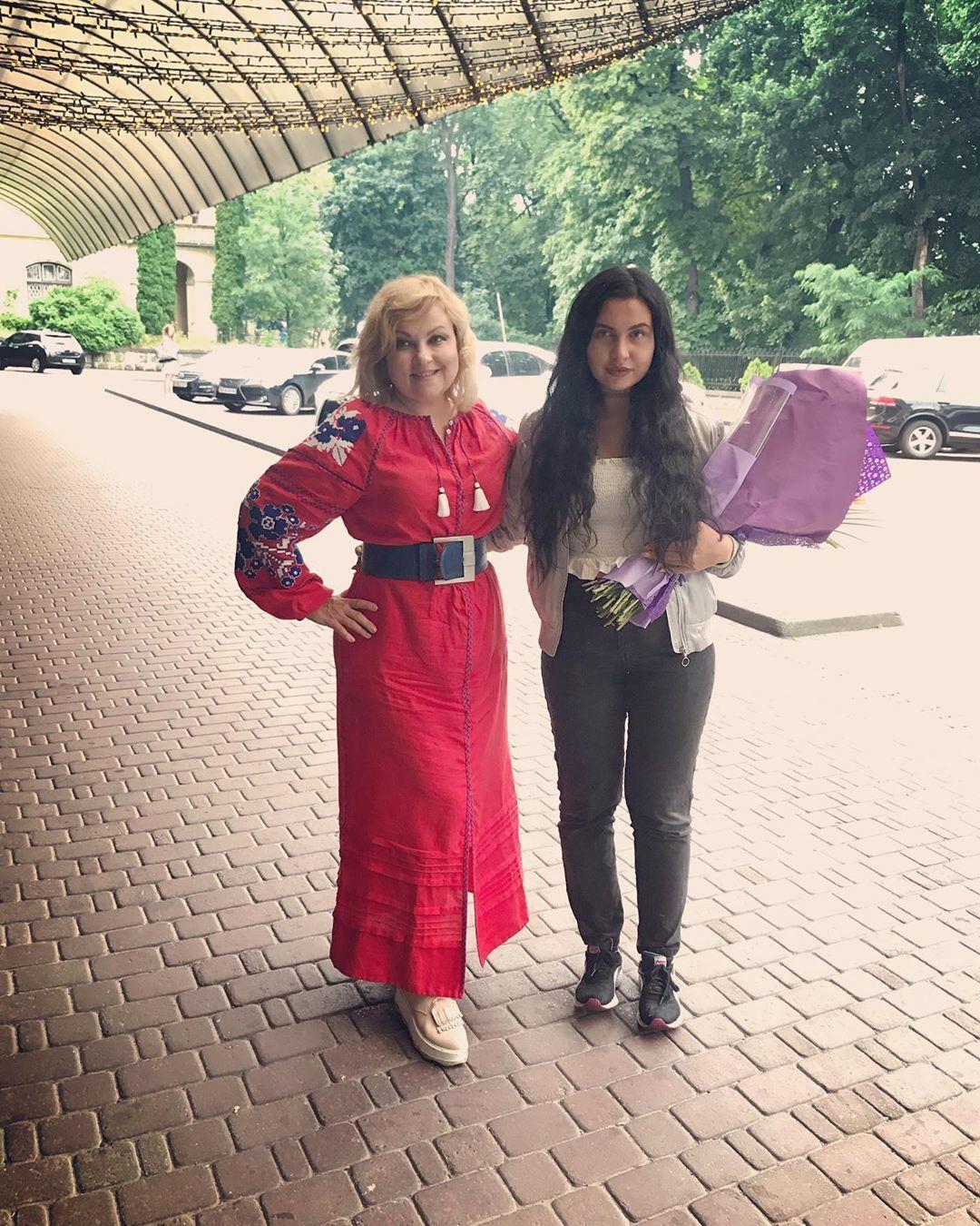 Марія Бурмака з дочкою