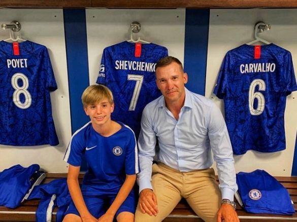 Андрій Шевченко з сином