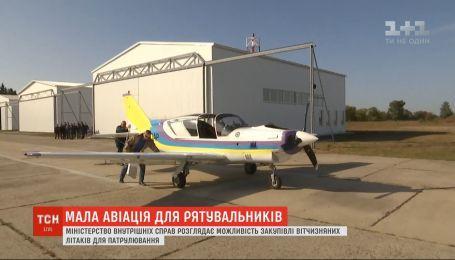 МВД в Нежине устроило осмотр самолетов отечественных производителей малой авиации