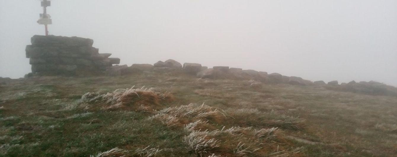 В Карпатах пошел первый осенний снег