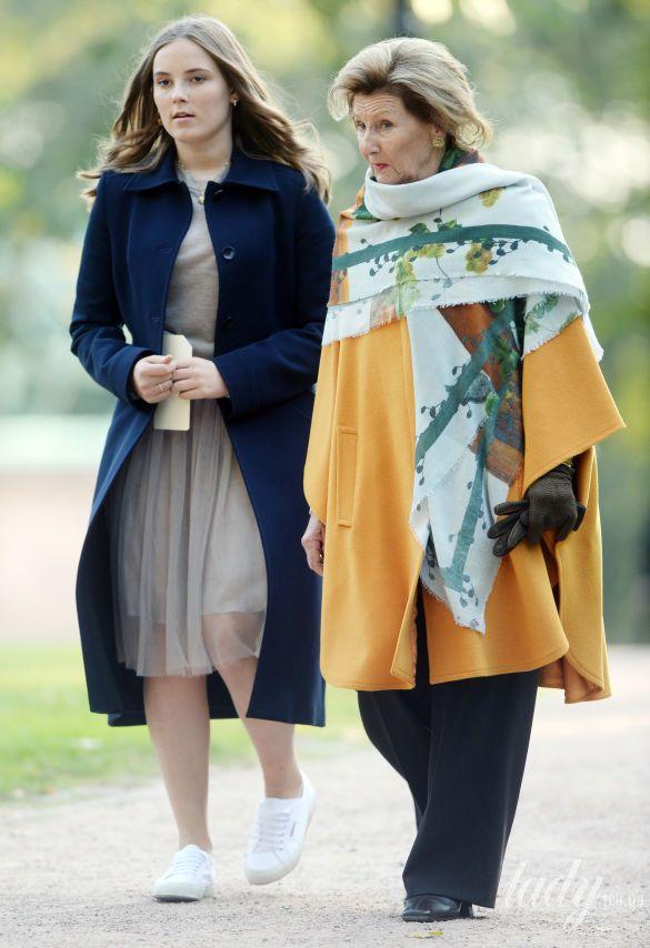 Королева Соня и принцесса Ингрид Александра