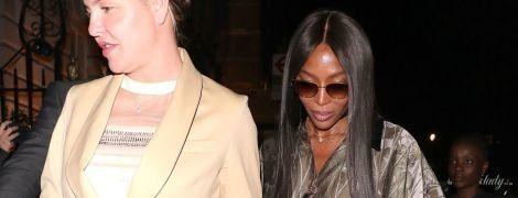 В наряде цвета пепельного хаки: Наоми Кэмпбелл в стильном луке на пати