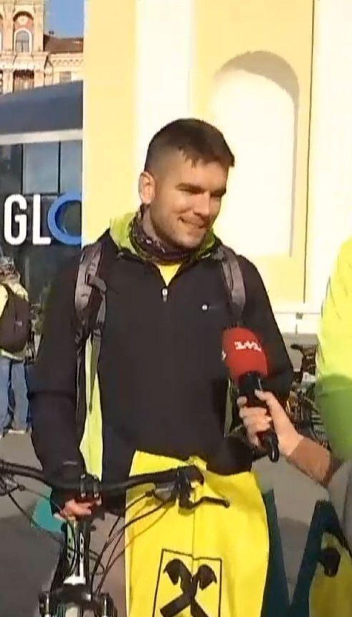 Попри холодну погоду, кияни взяли участь у акції на велосипедах