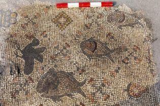 Археологи нашли 1500-летнюю мозаику, которая иллюстрирует библейский рассказ о чуде Христа