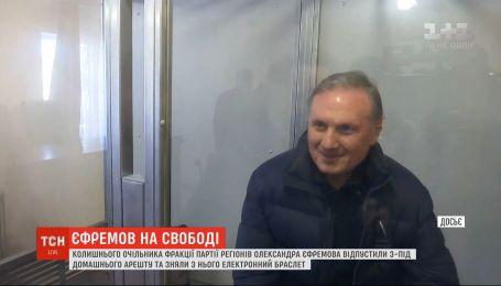 """Экс-главу """"Партии регионов"""" Ефремова отпустили из-под домашнего ареста"""