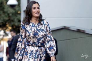 Ах, какое платье: королева Летиция вышла в свет в красивом наряде и лаковых лодочках