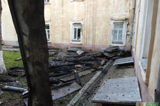 Среди причин пожара в луцком госпитале - замыкание. Пациенты говорят, что в больнице часто отключался свет