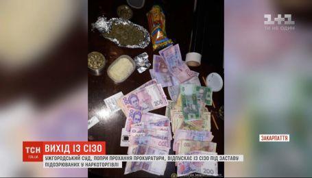 Под залог друг за другом выпускает из СИЗО подозреваемых в наркоторговле Ужгородский суд
