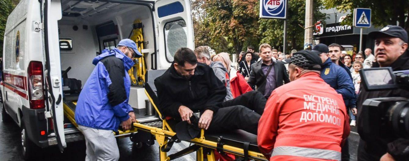 """В Одесі авто в'їхало в натовп протестувальників на """"зебрі"""", постраждалих госпіталізували"""