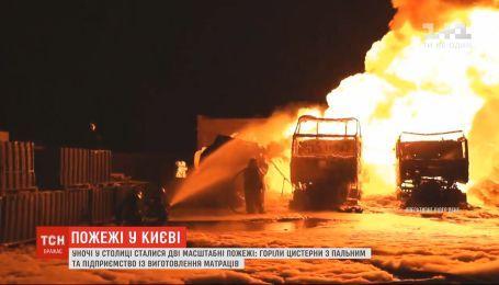 Сразу два масштабных пожара произошли в Киеве