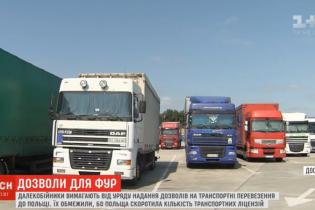 """Водители фур пикетируют Кабмин. Их """"прищемили"""" квотами на перевозки в Польшу"""