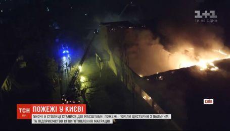 Цистерны с горючим и предприятие по изготовлению матрасов почти одновременно горели в столице