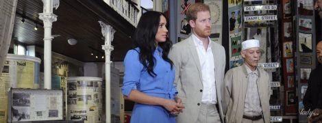В ярком платье-рубашке: новый образ герцогини Сассекской в рамках королевского тура