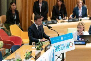 Зеленский на саммите ООН назвал два барьера, которые стоят на пути к устойчивому развитию Украины