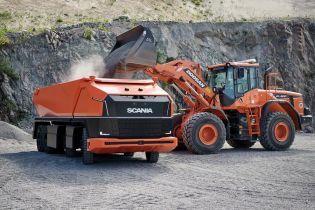 Scania представила беспилотный самосвал