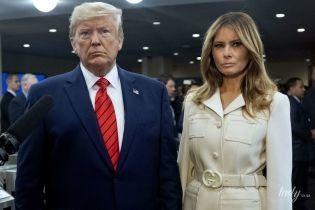В кремовом пальто от Gucci:  эффектная Мелания Трамп на Генеральной Ассамблее ООН
