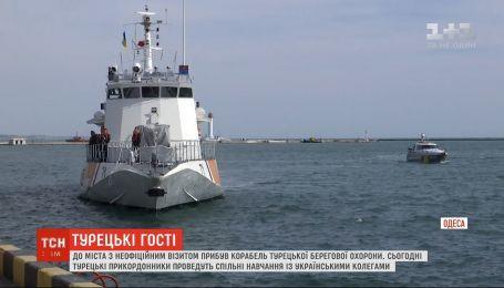 В Одессу с неофициальным визитом прибыл корабль турецкой береговой охраны