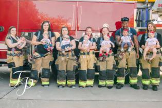 В США почти одновременно родили семеро жен пожарных с одной станции