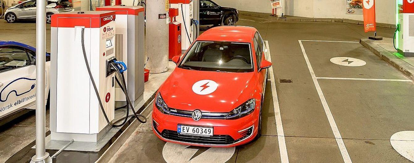 В Норвегии заправки превращают в зарядки для электрокаров