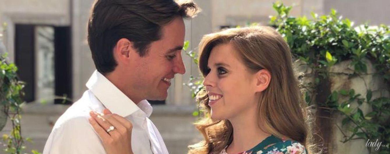 Показала каблучку: знімки з заручин принцеси Беатріс і Едоардо Мопеллі Моцці