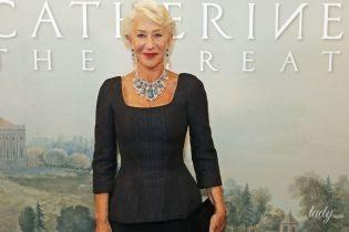 С роскошным колье на шее: красивая Хелен Миррен на светском приеме в Лондоне