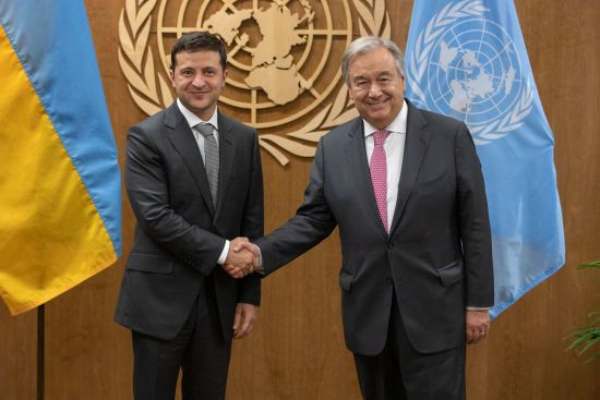 Зеленський провів переговори з генеральним секретарем ООН