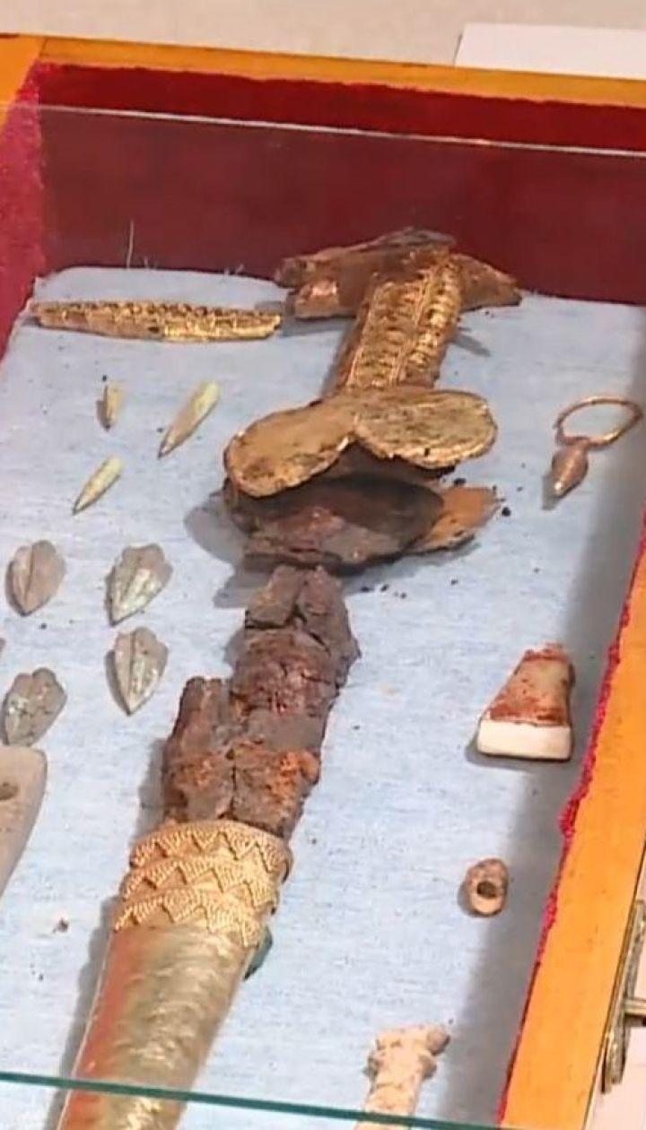 Золотой меч скифских воинов обнаружили запорожские археологи во время раскопок на Мамай-горе