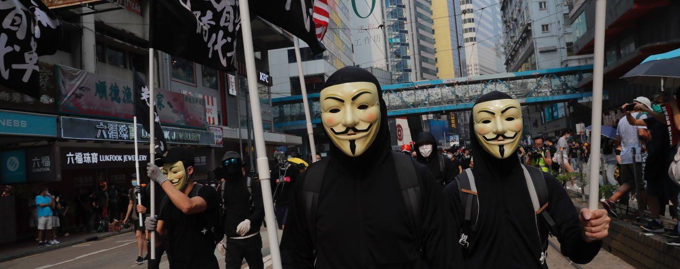 Глава адміністрації Гонконгу заборонила носити маски під час демонстрацій