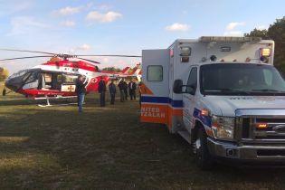 В Умани для эвакуации больного хасида спасатели задействовали вертолет