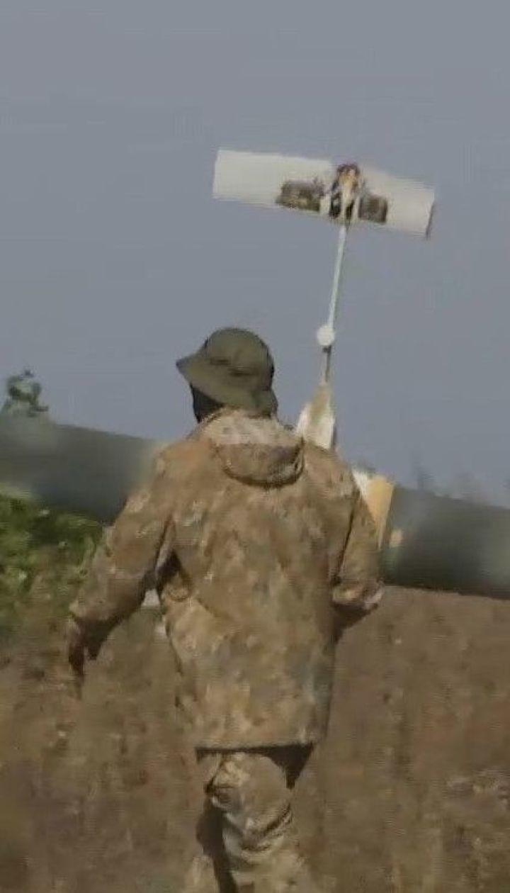 """Ударний """"безпілотник"""", зроблений в Україні, завдає ударів по позиціях так званої ЛНР"""