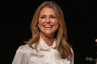 Редкий выход в свет: шведская принцесса Мадлен на презентации книги