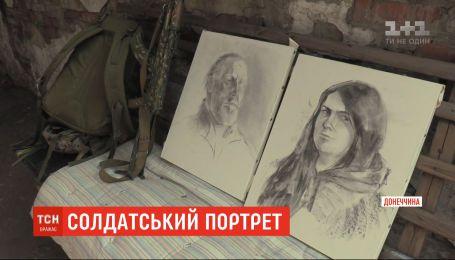 Харківська художниця приїхала на Донбас, аби намалювати портрети українських бійців