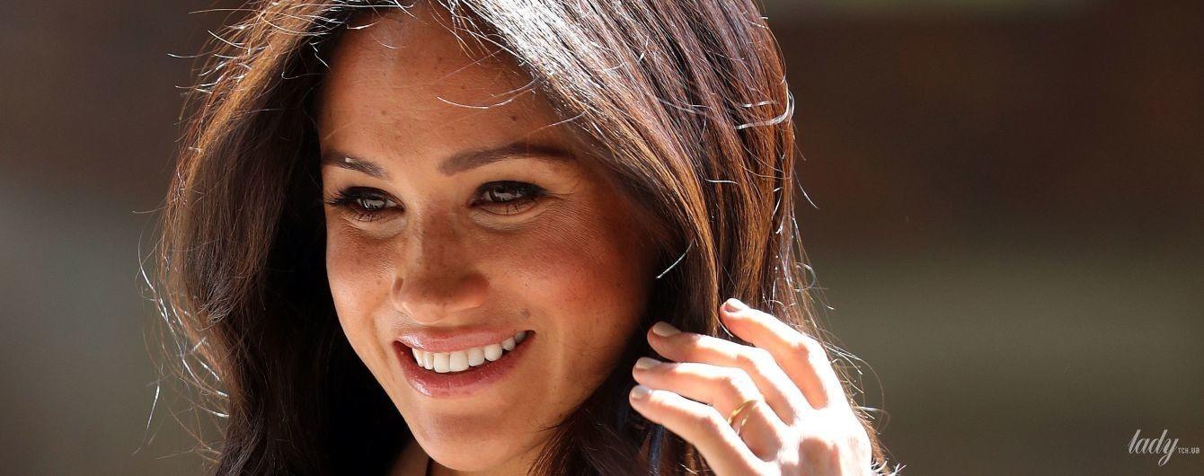 В платье за 100 долларов: новый выход герцогини Сассекской в королевском туре