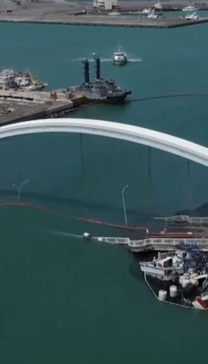 На востоке Тайваня после тайфуна обрушился мост вместе с людьми