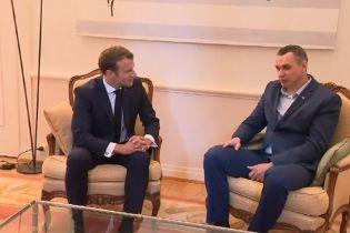 Сенцов в Страсбурге встретился с Макроном